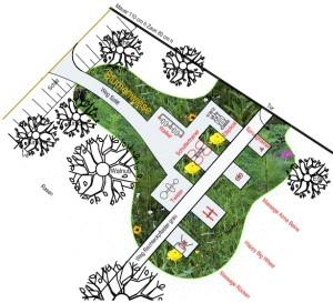 Seniorenheim Neandertal, Entwurf, Bewegung Fitness Garten Parcour, Entwurf Weisser Landschaftsarchitekten